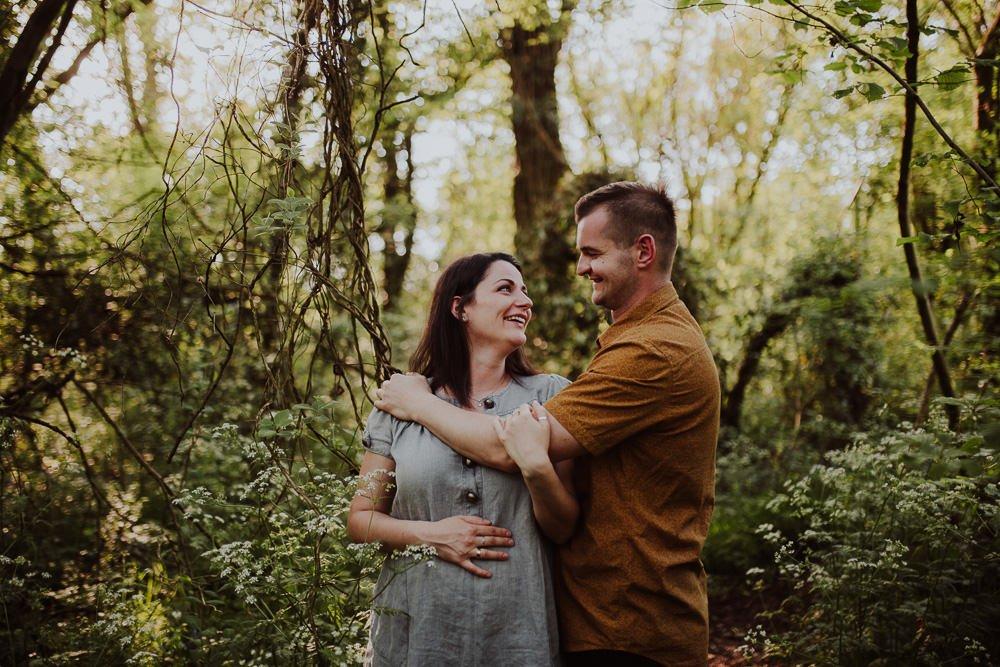 Monika i Mariusz - sesja ciążowa. Worcester 5