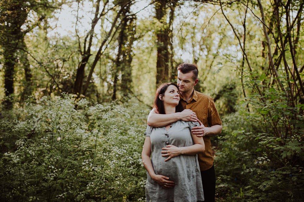 Monika i Mariusz - sesja ciążowa. Worcester 11
