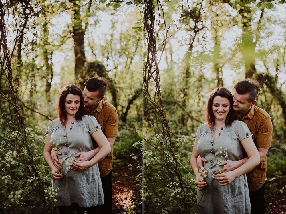Monika i Mariusz - sesja ciążowa. Worcester 8