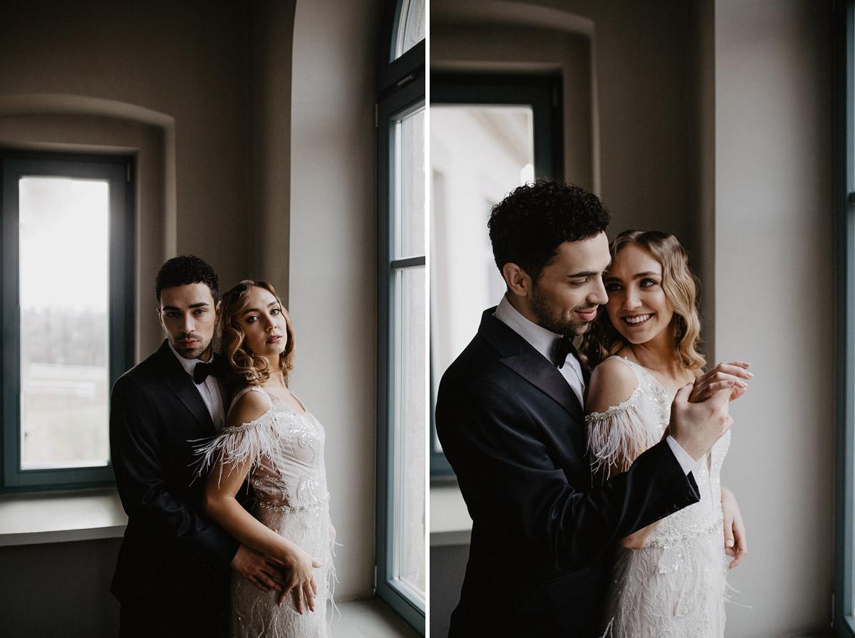 Weronika i Kamil - sesja ślubna stylizowana w stylu lat 20-stych z nutką boho 3