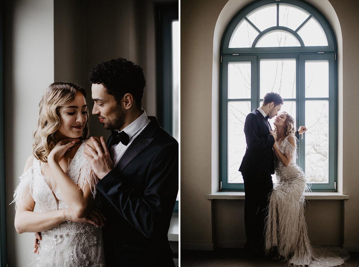 Weronika i Kamil - sesja ślubna stylizowana w stylu lat 20-stych z nutką boho 4