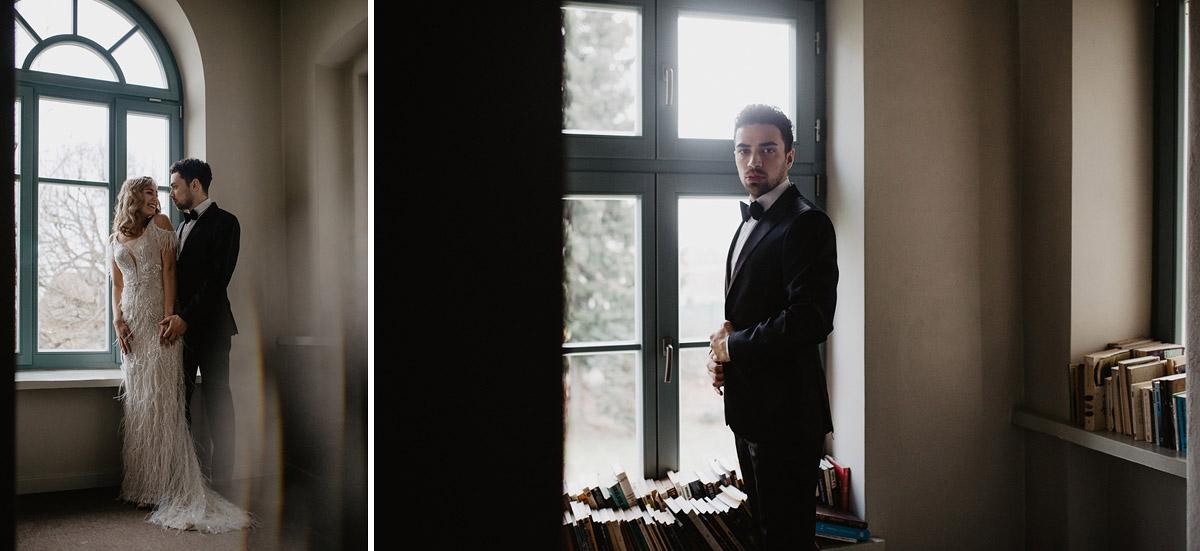 Weronika i Kamil - sesja ślubna stylizowana w stylu lat 20-stych z nutką boho 5