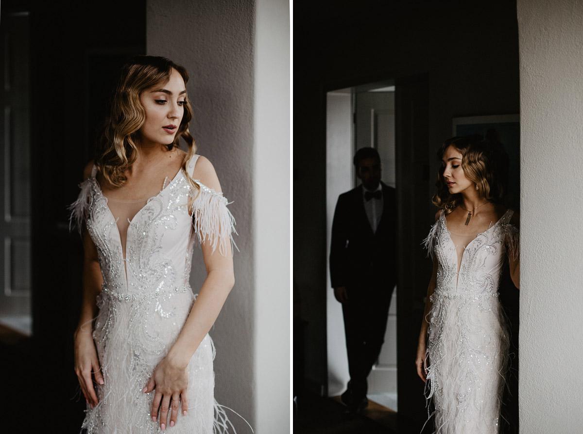 Weronika i Kamil - sesja ślubna stylizowana w stylu lat 20-stych z nutką boho 17