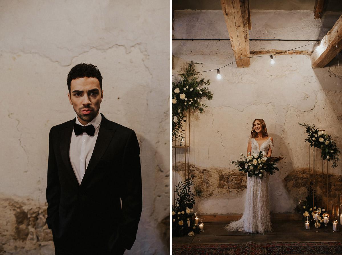 Weronika i Kamil - sesja ślubna stylizowana w stylu lat 20-stych z nutką boho 30