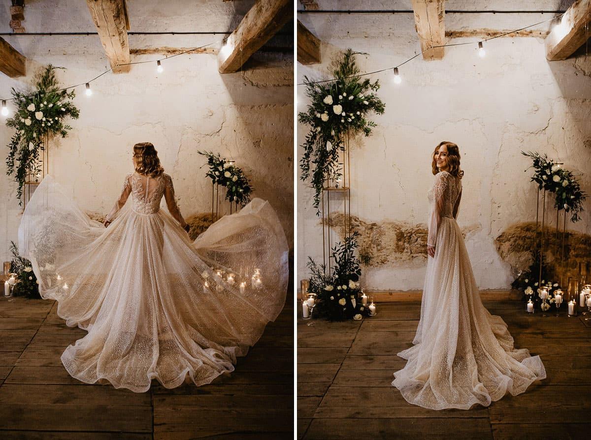 Weronika i Kamil - sesja ślubna stylizowana w stylu lat 20-stych z nutką boho 31