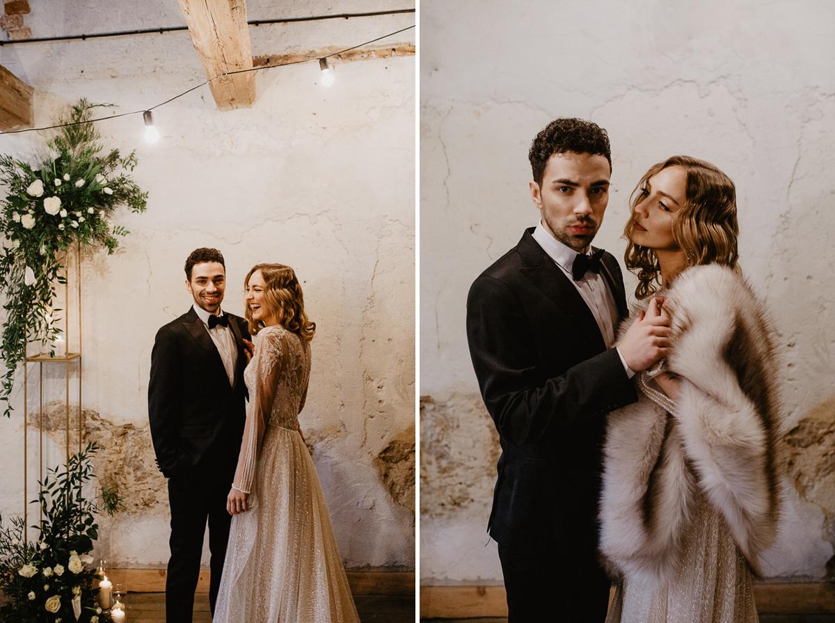 Weronika i Kamil - sesja ślubna stylizowana w stylu lat 20-stych z nutką boho 32