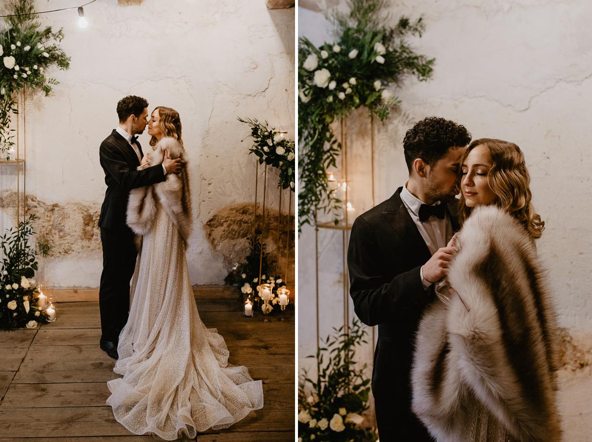 Weronika i Kamil - sesja ślubna stylizowana w stylu lat 20-stych z nutką boho 33