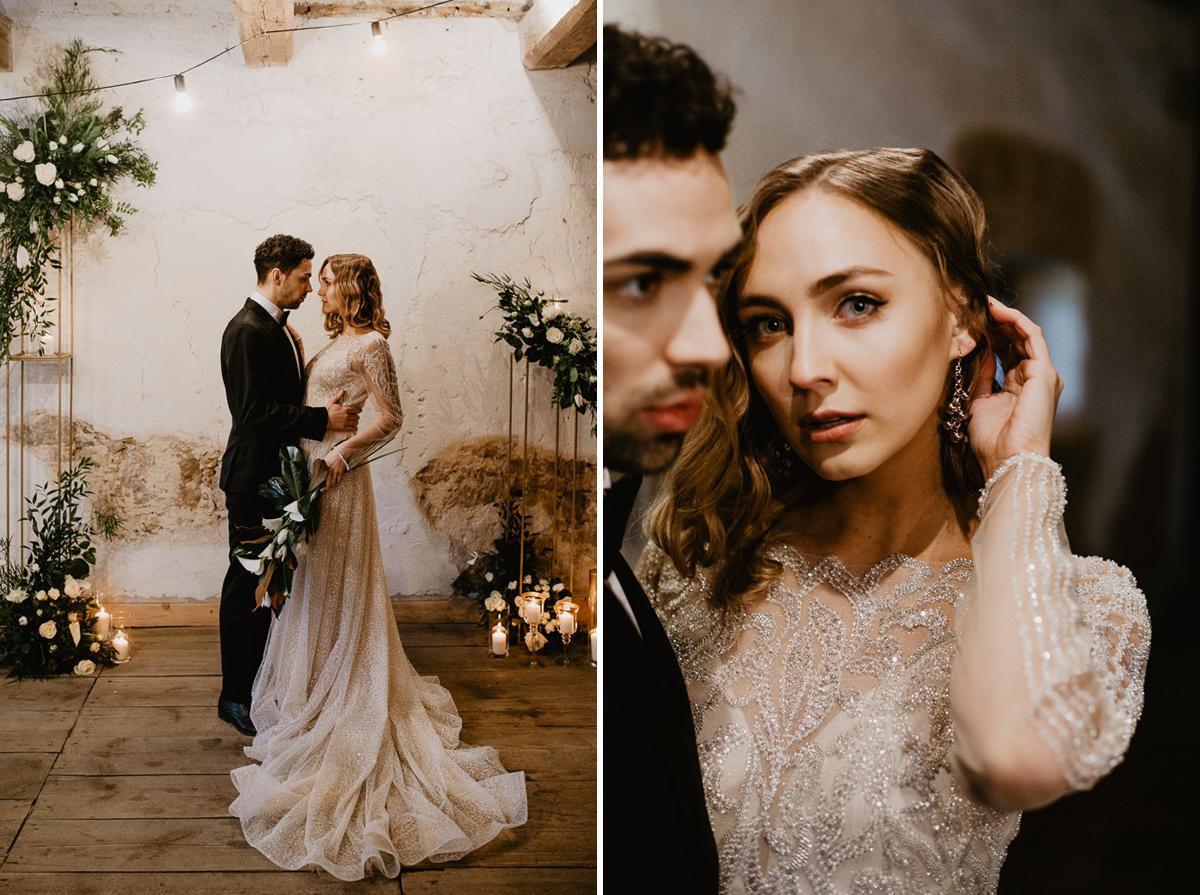 Weronika i Kamil - sesja ślubna stylizowana w stylu lat 20-stych z nutką boho 34