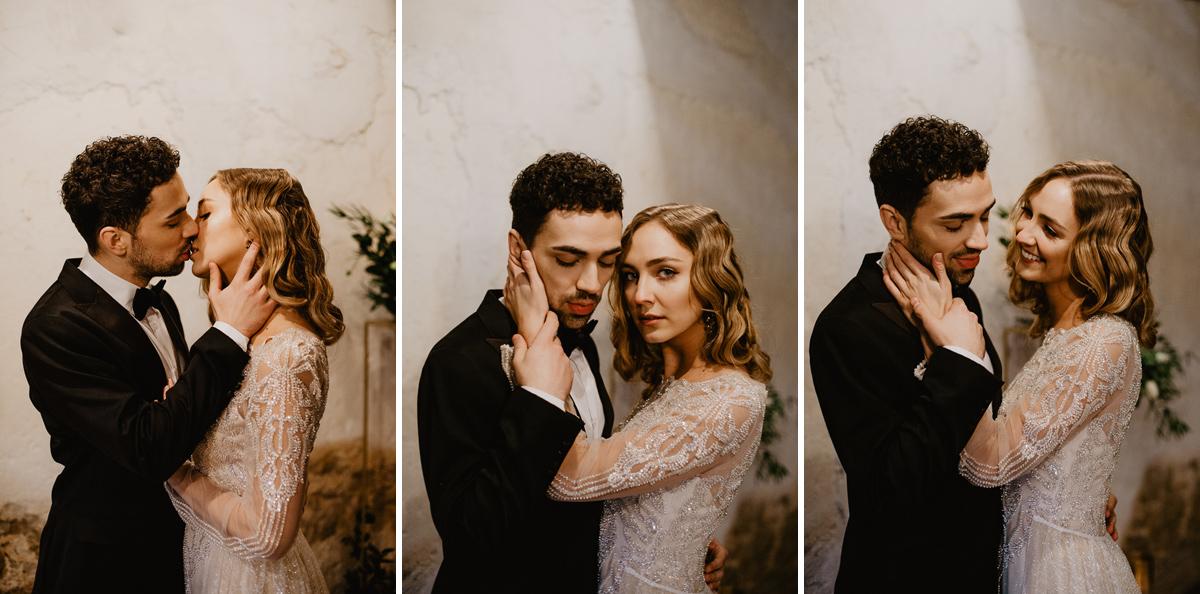 Weronika i Kamil - sesja ślubna stylizowana w stylu lat 20-stych z nutką boho 35