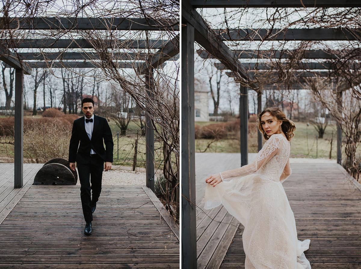 Weronika i Kamil - sesja ślubna stylizowana w stylu lat 20-stych z nutką boho 48