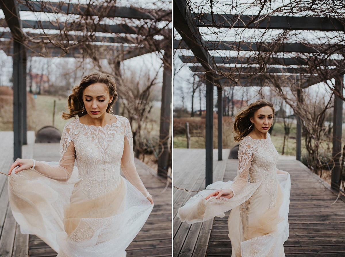 Weronika i Kamil - sesja ślubna stylizowana w stylu lat 20-stych z nutką boho 49