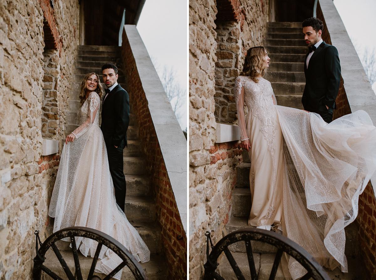 Weronika i Kamil - sesja ślubna stylizowana w stylu lat 20-stych z nutką boho 50