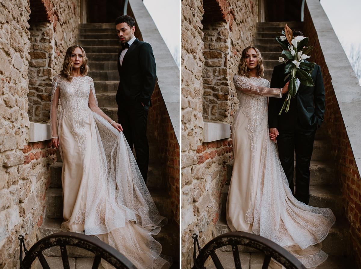 Weronika i Kamil - sesja ślubna stylizowana w stylu lat 20-stych z nutką boho 51