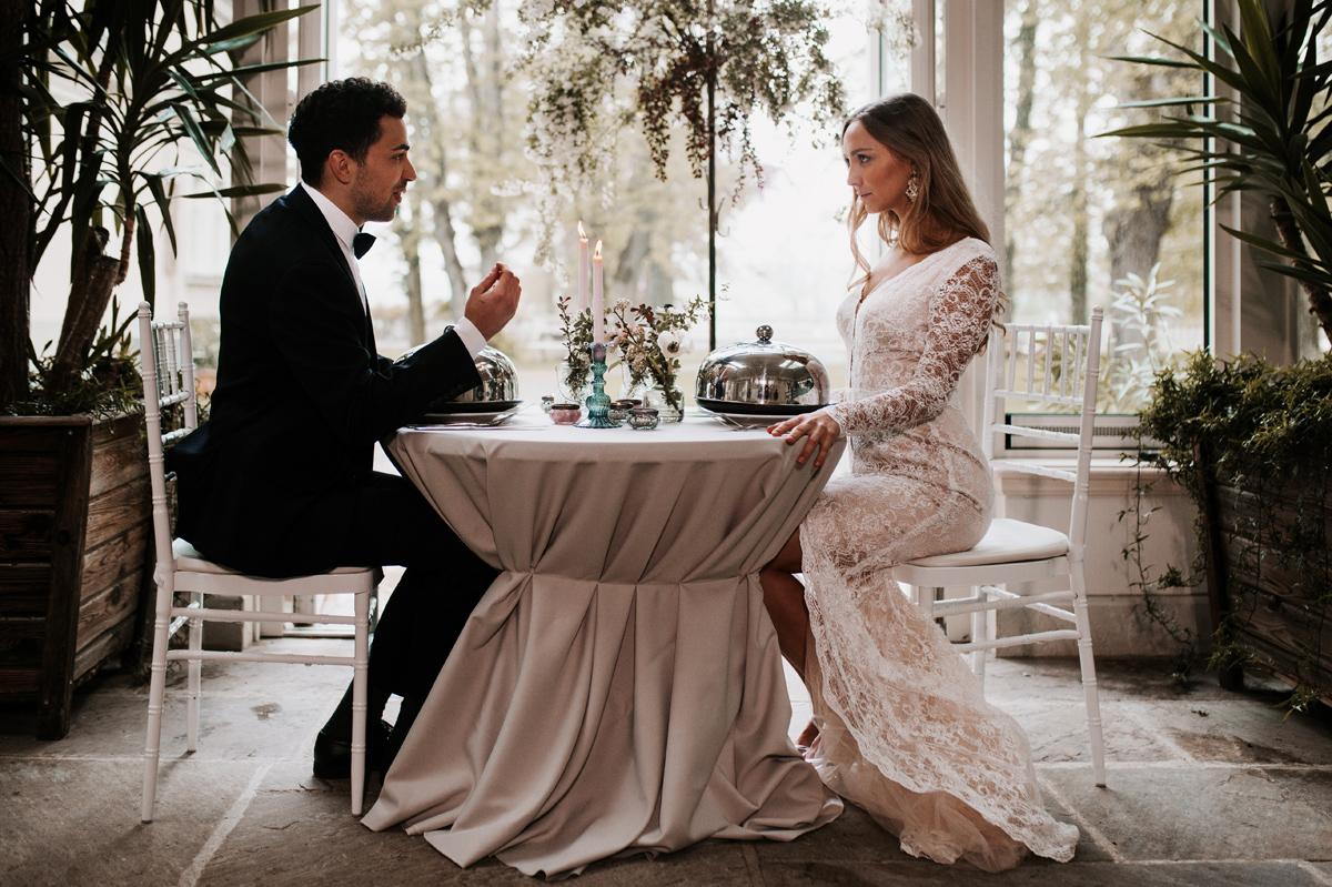 romantyczny obiad weselny