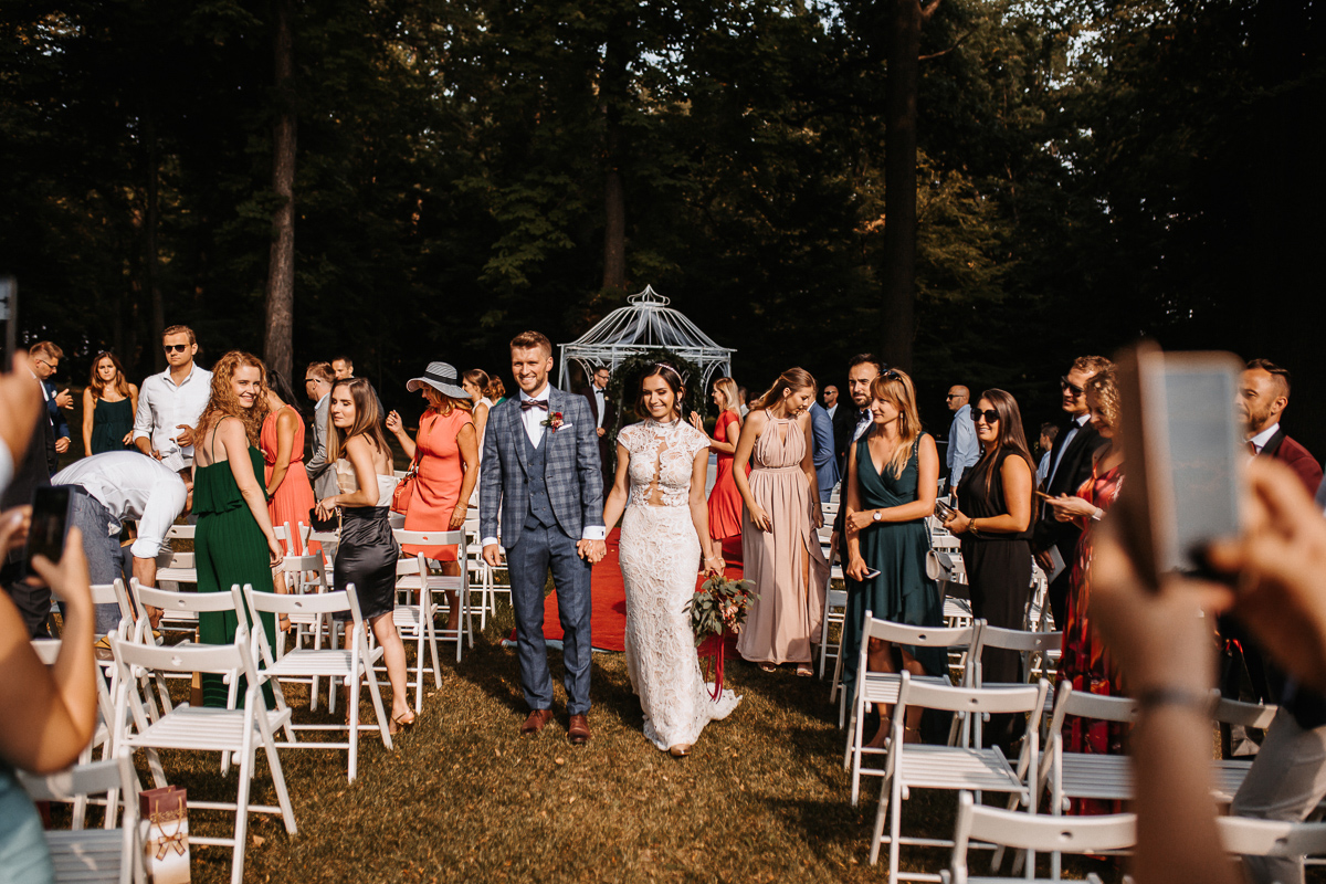 ślub koscielny w plenerze krakow